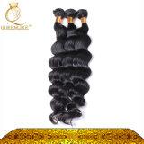 卸し売りバージンは、加工されていない毛のよこ糸、人間の毛髪束ねる編む(FDX-YY-KBL)