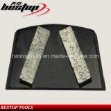 Le double en esclavage en métal segmente la plaque de meulage concrète de diamant de trapèze d'étage