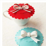 Mug를 위한 사랑스러운 Bowknot Silicone Cup Lid