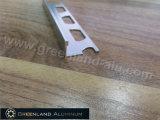 Argent lumineux L garniture de tuile de forme pour 8mm, 10mm, tuile de 12mm