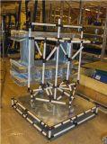 Junta doble del metal de Moble del sitio de trabajo del tubo