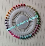 Pin de corsage de tête de bille ronde de perle de 38mm pour Hijab (P160114F)