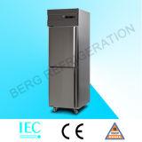 Cozinha Freezer Geladeira com congelador de aço inoxidável com ce