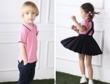 Moda personalizada Elegante escola primária Men's and Girl's Uniform S53107