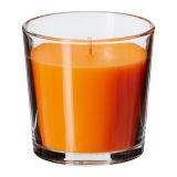 Bougies normales d'arome de cire de soja dans le choc en verre