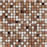 2016 Vierkante Marble Mosaic met Glass (F 1222)