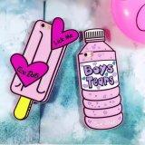 Het hete Geval van het Silicone van de Woorden van de Scheur van de Jongens van de Luxe Roze voor iPhone6