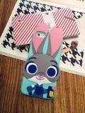 Милое шальное животное аргументы за iPhone6 силикона Джуди кролика шаржа