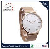 トレンディなファッションのOEM / ODMのステンレススチールレザーストラップカスタム自身のブランド腕時計(DC-033)