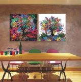 ホーム装飾のカスタム現代花の絵画
