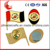 Esmalte suave material del metal de la divisa del Pin del indicador nacional