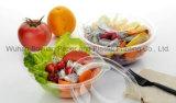 고품질 뚜껑을%s 가진 처분할 수 있는 명확한 사라다 그릇