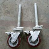 Durable seguro Scaffolding Caster Wheel com Brakes