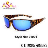 Óculos de sol polarizados do esporte da alta qualidade Tr90 forma simples (91001)
