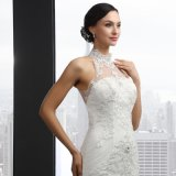High Neck Backless Mermaid Wedding Dress (Q-030)