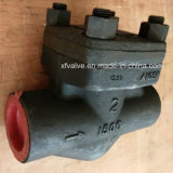 API602 1500lb schmiedete Gewinde NPT-Kolben-Rückschlagventil des Stahl-A105