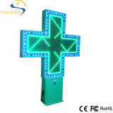 P20 Outdoor 100cm Green LED Pharmacy Cross Sign