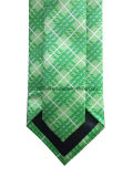 Check vert Woven Silk Necktie pour Businesman