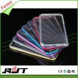 Cubierta transparente de aluminio de la caja del teléfono móvil de los parachoques TPU para el iPhone 6/6s