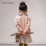 編むPhoebeeの綿または女の子のための編まれたばねか秋のカーディガンのセーター