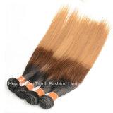 """24 de """" cabelos retos da extensão 1b/4#/27# do cabelo do Virgin Ombre"""