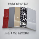 Kitchen Cabinet Doorのための黒いGlossy Scratch Proof Lct Plywood