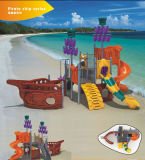 Kaiqi Small Pirate Ship themenorientiertes Childrens Playground - Great für Beaches! (KQ9097A)