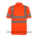 Camiseta reflexiva del Workwear de la alta seguridad de la visibilidad