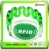 RFID promozionale Silicone Wristband per Loyalty Event con Ntag Chip