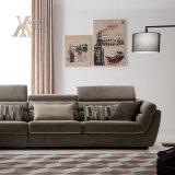 Il sofà moderno del tessuto ha impostato con il poggiacapo registrabile (1603)