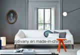 Sofá moderno italiano de la tela del sofá del cuero blanco (D-76-B)