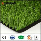 Grama sintética material do PE verde ao ar livre barato por atacado para campos de futebol