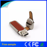 2016 Hotsale Metal Leather USB Flash Drive 8GB