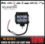 """barra chiara di 4D LED del CREE 4 di 4X4 4inch 18W """" con 1800lm"""
