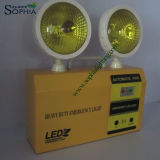 5W l'indicatore luminoso Emergency giallo di vetro LED dura 8 ore
