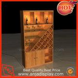 Soporte de visualización de madera de pared del vino