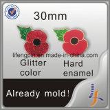 Kundenspezifischer Epola Mohnblume-Blumen-Reversgroßhandelspin