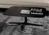 Mesa de centro de madera negra simple con la base del hierro (CTS-007)