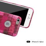 Caso de cuero hermoso de la cubierta del teléfono de la impresión del cocodrilo de la PU del modelo del OEM para el borde de Samsung S6