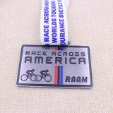 Regalos de encargo que funcionan con la medalla del deporte del metal del maratón de la medalla con la cinta