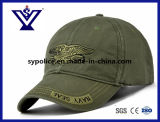 Hot Sell Black Cotton Outdoor Military Cap / Baseball Hat (SYC-0015C)