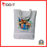 sacos de Tote reusáveis da compra do algodão da impressão do logotipo 5oz