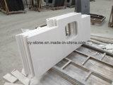 Белые искусственние каменные верхние части тщеты ванной комнаты кварца для гостиницы/коммерчески проекта с раковинами