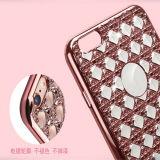 Electrochapar la caja del modelo TPU del diamante de Bling para iPhone6 6s