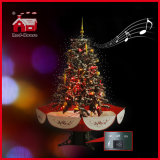 LED dell'interno Snowing Christmas Tree con Flying Snowflakes e Music