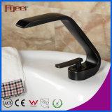 Nouveau robinet de bassin de noir de salle de bains de conception de mode de Fyeer 2015