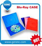 cassa materiale blu del raggio pp DVD di rettangolo di 10mm