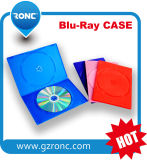 PP 물자 10mm 장방형 파란 광선 DVD 상자