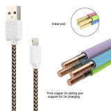 Сплетенный кабель USB пояса для мобильных телефонов Apple/iPad