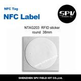 Codificación del URL de Ntag 215 de la etiqueta engomada del papel del animal doméstico de la etiqueta del Hf de Nfc